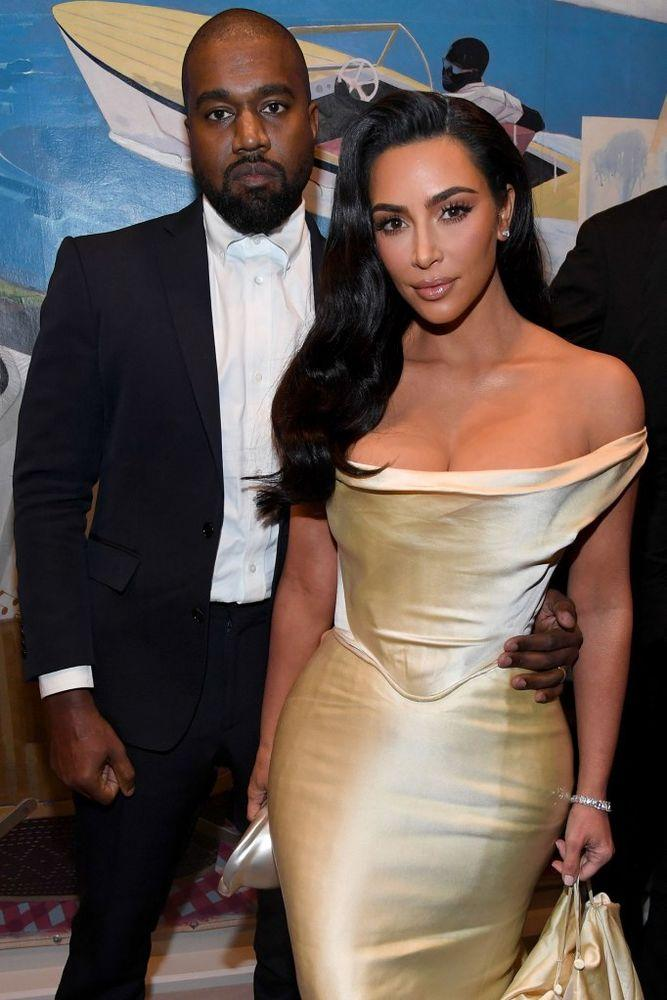 Kanye West and Kim Kardashian West at Diddy's birthday party | Kevin Mazur/Getty Images