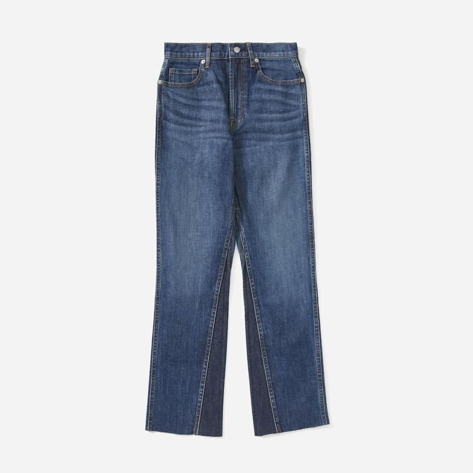 """<p><strong>Everlane</strong></p><p>everlane.com</p><p><a href=""""https://go.redirectingat.com?id=74968X1596630&url=https%3A%2F%2Fwww.everlane.com%2Fproducts%2Fwomens-cheeky-bootcut-classicbluewash&sref=https%3A%2F%2Fwww.harpersbazaar.com%2Ffashion%2Ftrends%2Fg37038622%2Feverlane-summer-sale-best-items%2F"""" rel=""""nofollow noopener"""" target=""""_blank"""" data-ylk=""""slk:Shop Now"""" class=""""link rapid-noclick-resp"""">Shop Now</a></p><p><strong><del>$85</del> $34</strong></p><p>If you want to understand the Everlane hype, head straight to the denim section. This bootcut pair has structure with a hint of stretch, and the wash won't fade. </p>"""