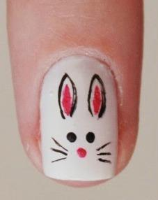 "The Easter bunny nail is the cutest. Tutorial <a rel=""nofollow"" href=""http://rubiaolivo.blogspot.com.br/2015/04/tutorial-nail-art-de-coelhinho.html?m=1"" rel="""">here</a>.  <em>Photo: <a rel=""nofollow"" href=""http://rubiaolivo.blogspot.com.br/2015/04/tutorial-nail-art-de-coelhinho.html?m=1"" rel="""">Rubia Olivo Blog</a></em>"