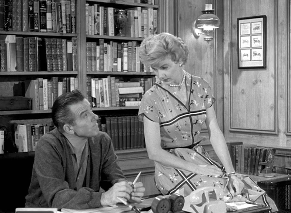 "<span class=""caption"">Ward Cleaver of the popular sitcom 'Leave It to Beaver' in his study.</span> <span class=""attribution""><a class=""link rapid-noclick-resp"" href=""https://i.pinimg.com/originals/72/d5/4e/72d54e1687267db51b65becc2caa3dc8.jpg"" rel=""nofollow noopener"" target=""_blank"" data-ylk=""slk:Universal Pictures"">Universal Pictures</a></span>"