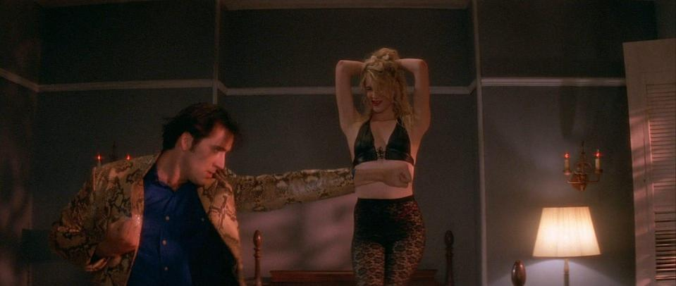 """Laura Dern starred as Ripley, with her out-of-control lover Sailor in David Lynch's 1990 drama """"Wild At Heart."""""""