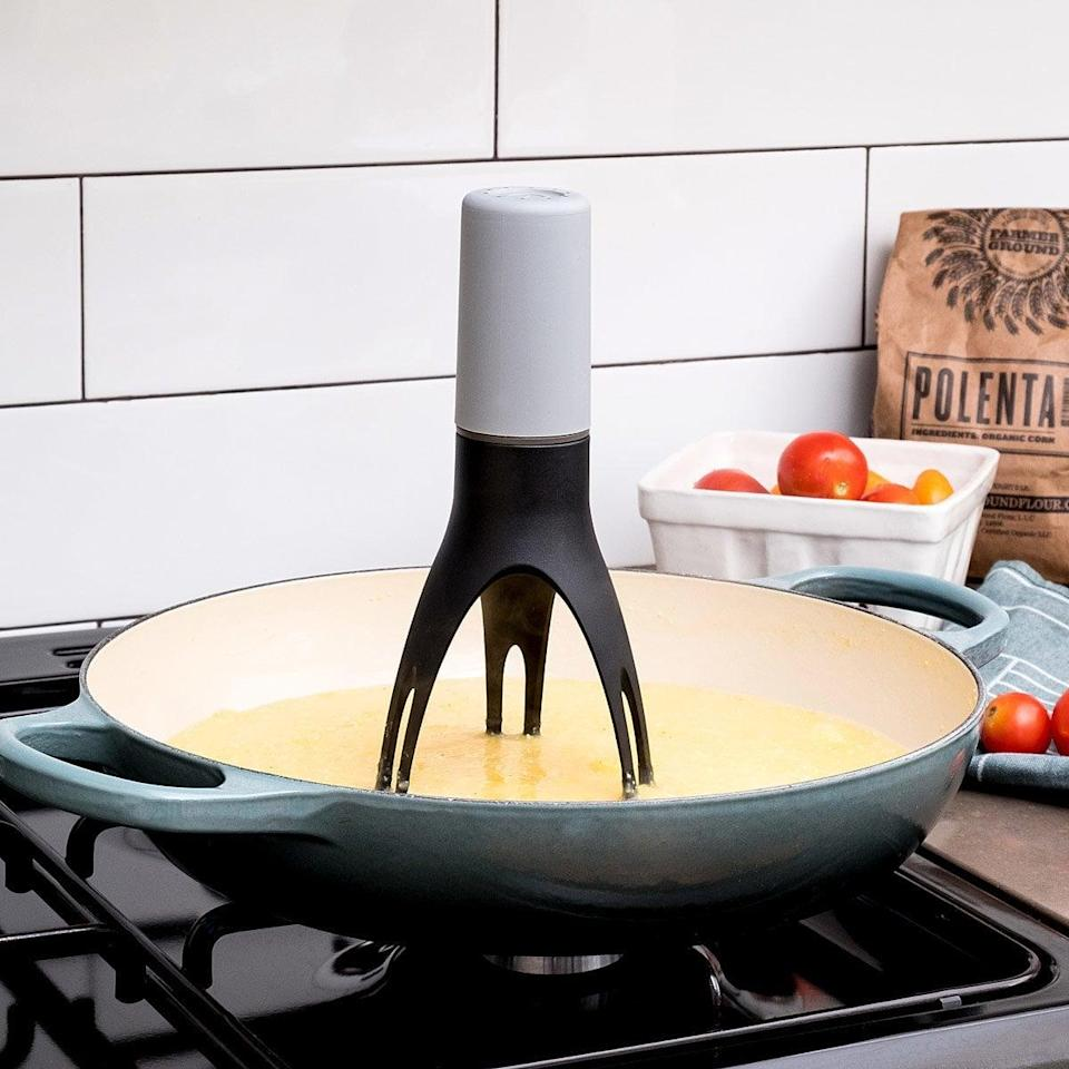 <p>Get this <span>Automatic Pan Stirrer With Timer</span> ($25) for the cook. It doesn't matter if they are an ameture or a cooking pro, they'll appreciate the extra help! It's a quirky gift that'll surely make them smile. </p>