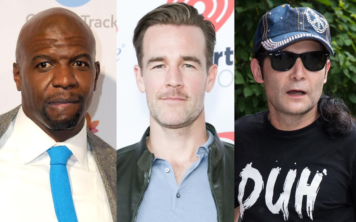 Terry Crews, James Van Der Beek, and Corey Feldman are some of the men speaking out about sexual misconduct in Hollywood. (Photo: Getty Images)