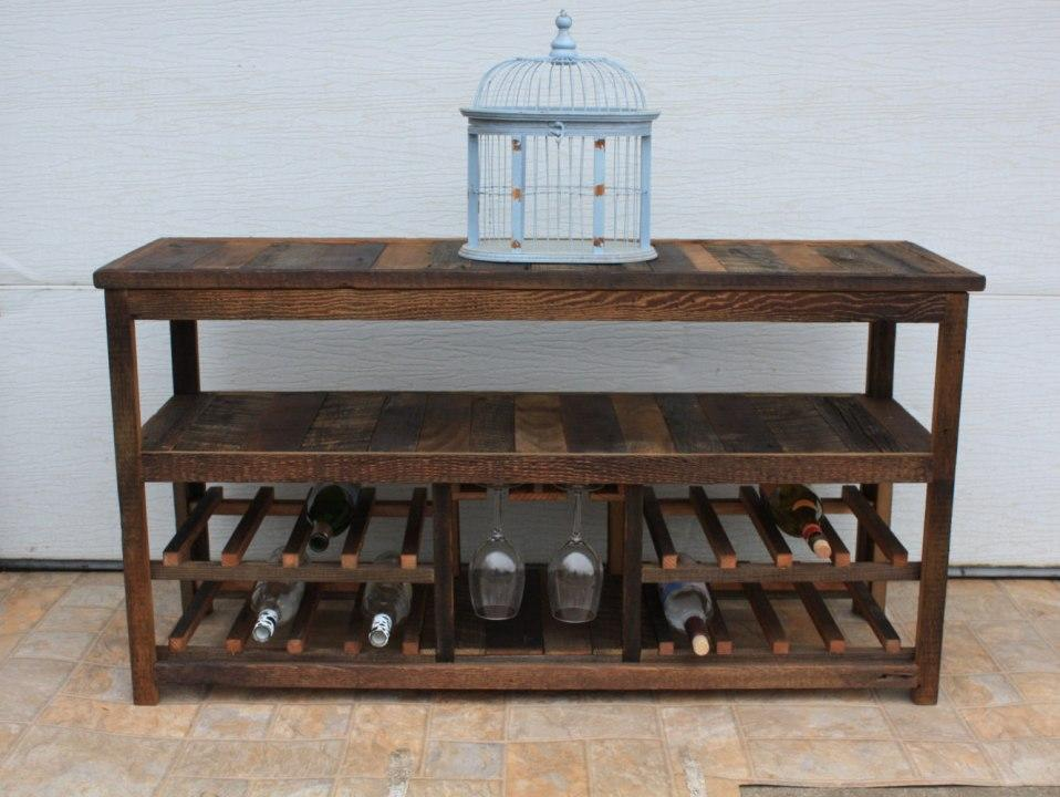 50-inch rustic TV stand or sofa table (Etsy, $375)