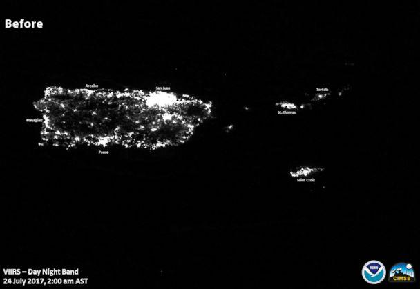 PHOTO: Images of lights on in Puerto Rico before Hurricane Maria. (NOAA/NASA)