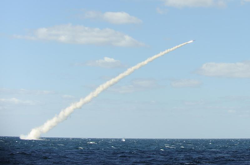 South Korea warns the North it is playing a dangerous game with a series of missile tests close to the border, shown here is a file photo of a cruise missile launch