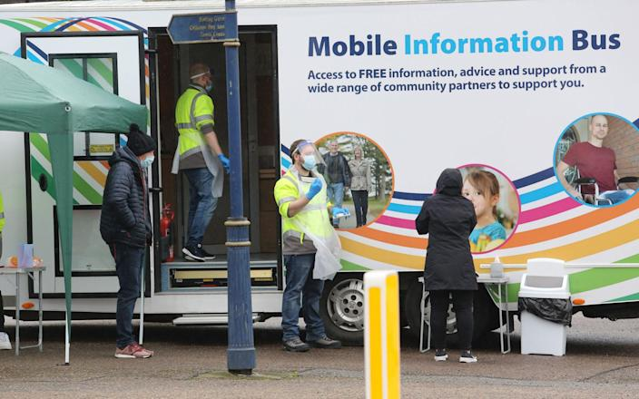 Moray council mobile Covid testing centre - Peter Jolly/Northpix