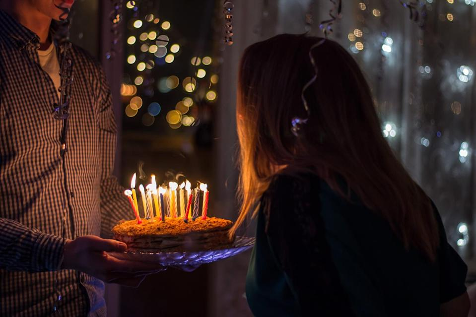 <p>Whether you get to have a big party or not, no birthday is complete without blowing out the candles on your birthday cake. Gather with the people you've been social distancing with, sing happy birthday, and make a wish!</p>
