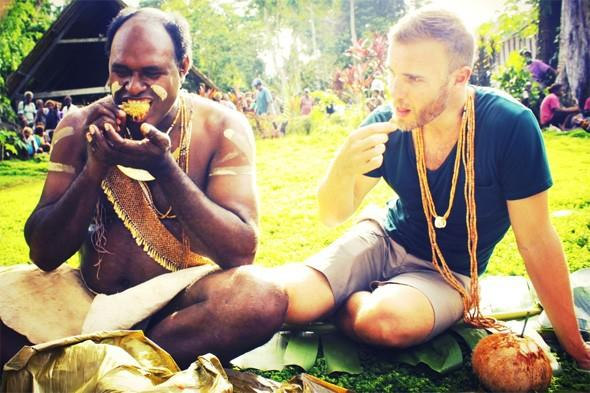 Gary Barlow tweets holiday photos from his Jubilee travels in the Solomon Islands