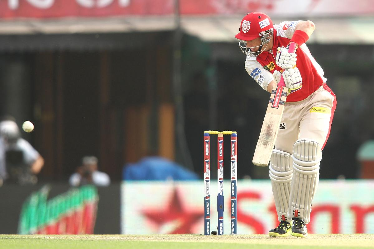David Hussey of Kings XI Punjab looks for a run during match 20 of the Pepsi Indian Premier League between The Kings XI Punjab and the Kolkata Knight Riders held at the PCA Stadium, Mohal, India  on the 16th April 2013..Photo by Shaun Roy-IPL-SPORTZPICS  ..Use of this image is subject to the terms and conditions as outlined by the BCCI. These terms can be found by following this link:..https://ec.yimg.com/ec?url=http%3a%2f%2fwww.sportzpics.co.za%2fimage%2fI0000SoRagM2cIEc&t=1495826388&sig=yHDdrG_UNbsZbBmgg3INjA--~C