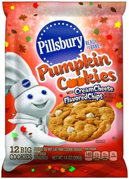 PHOTO: Pumpkin and cream cheese flavored chip break and bake cookies from Pillsbury. (General Mills)