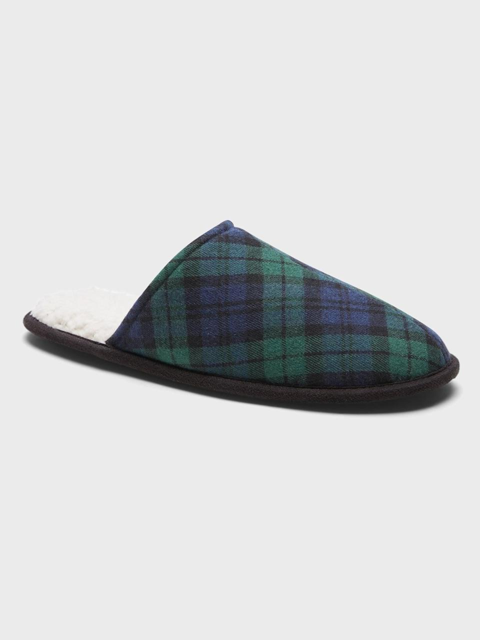 <p>It's the holiday season! Why not gift him this <span>Banana Republic Sherpa Indoor Slipper</span> ($50). Who needs shoes if we're staying in!</p>