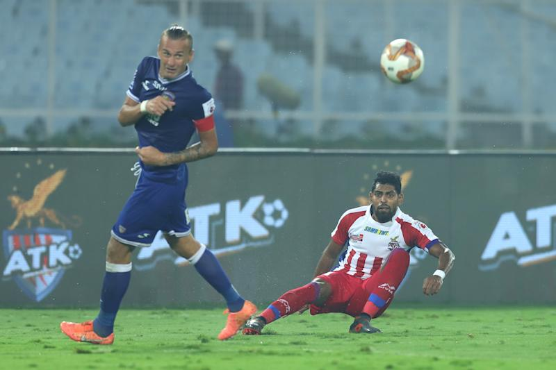 Roy Krishna and Lucian Goian ; Chennaiyin vs ATK