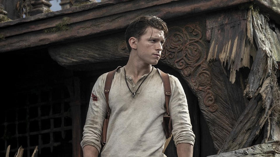 Tom Holland as Nathan Drake in 'Uncharted'. (Credit: Instagram/Tom Holland/Sony)