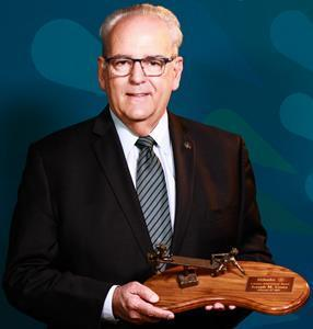 Hillsides Honorary Gala Chair and President and CEO Emeritus Joseph M. Costa with his Lifetime Achievement Award.