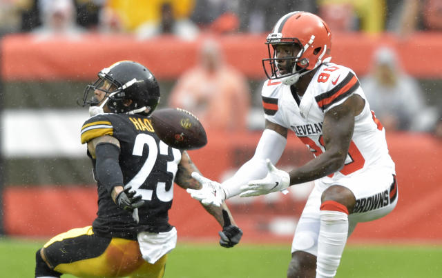"Cleveland Browns wide receiver <a class=""link rapid-noclick-resp"" href=""/nfl/players/27591/"" data-ylk=""slk:Jarvis Landry"">Jarvis Landry</a> is primed to push for a top-five receiver finish in Week 2 (AP Photo/David Richard)"
