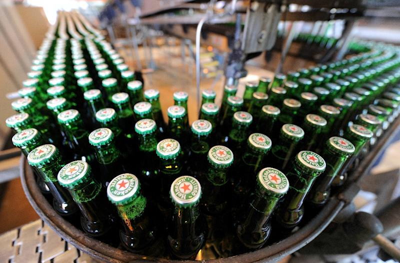 Heineken's July-September beer sales equate in volume to more than 2,000 Olympic-sized swimming pools