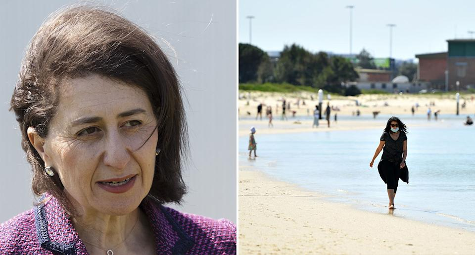 Premier Gladys Berejiklian has warned October will be a challenging month for the state as hospitalisations and deaths will likely peak. Source: AAP