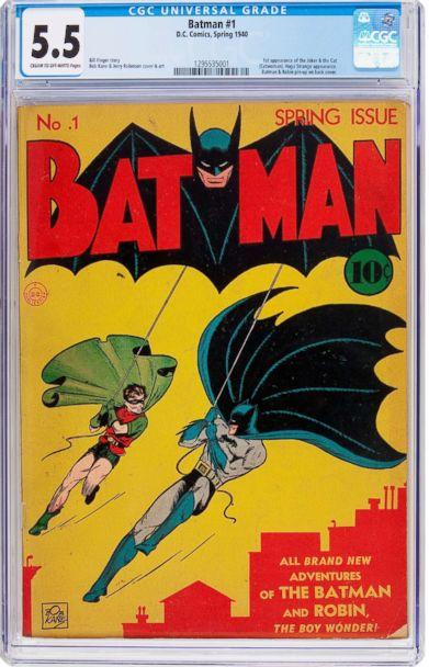 PHOTO: A copy of Batman #1 comic book will be up for sale, featuring the first appearance of The Joker and Catwoman. (Heritage Auctions)
