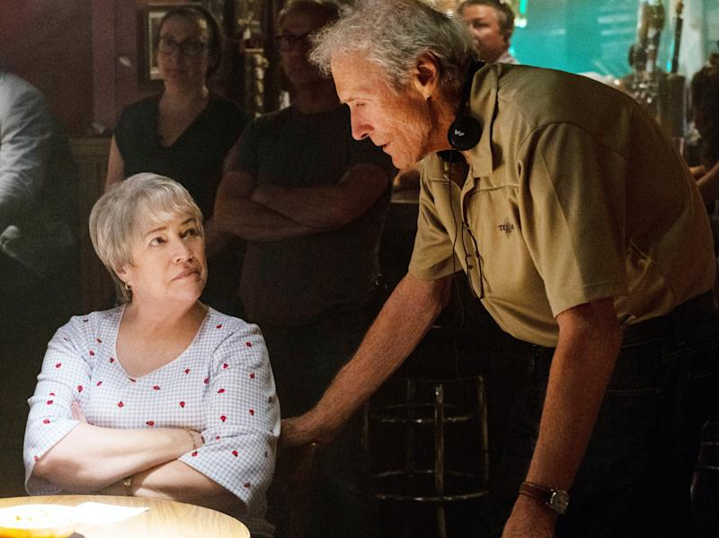 Kathy Bates and Clint Eastwood on the set of 'Richard Jewell' (Photo: Claire Folger / © Warner Bros. / courtesy Everett Collection)