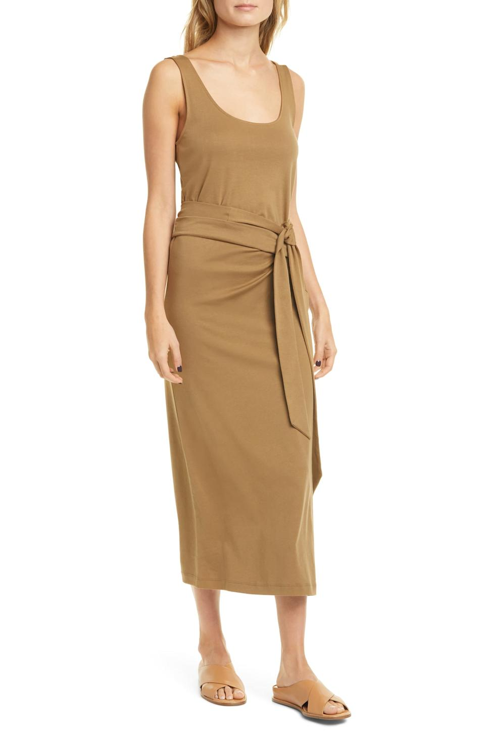 Vince Pima Cotton Tank Dress. Image via Nordstrom.