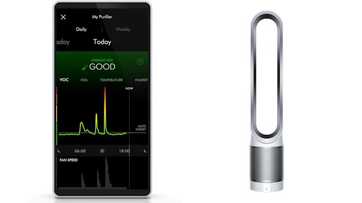 Shoppers loved that you can see stats about your home's air quality on the Dyson app.