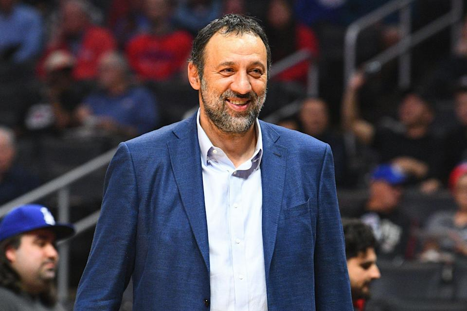 LOS ANGELES, CA - DECEMBER 26: Sacramento Kings general manager Vlade Divac looks on before a NBA game between the Sacramento Kings and the Los Angeles Clippers on December 26, 2018 at STAPLES Center in Los Angeles, CA. (Photo by Brian Rothmuller/Icon Sportswire via Getty Images)
