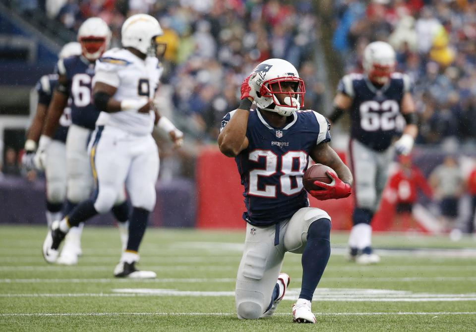 The Patriots snagged James White in the fourth round of the 2014 draft. (AP)
