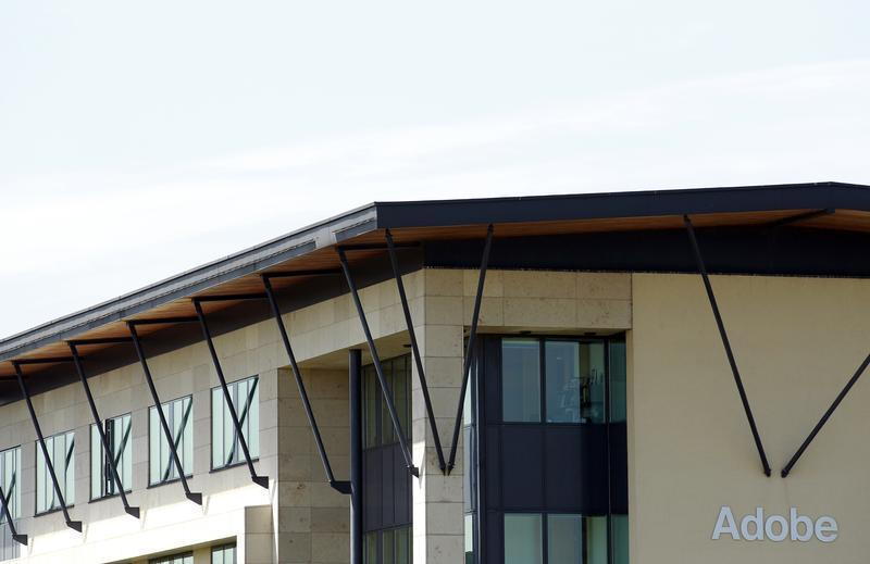Adobe Systems' headquarters at the CityWest complex is pictured in south Dublin