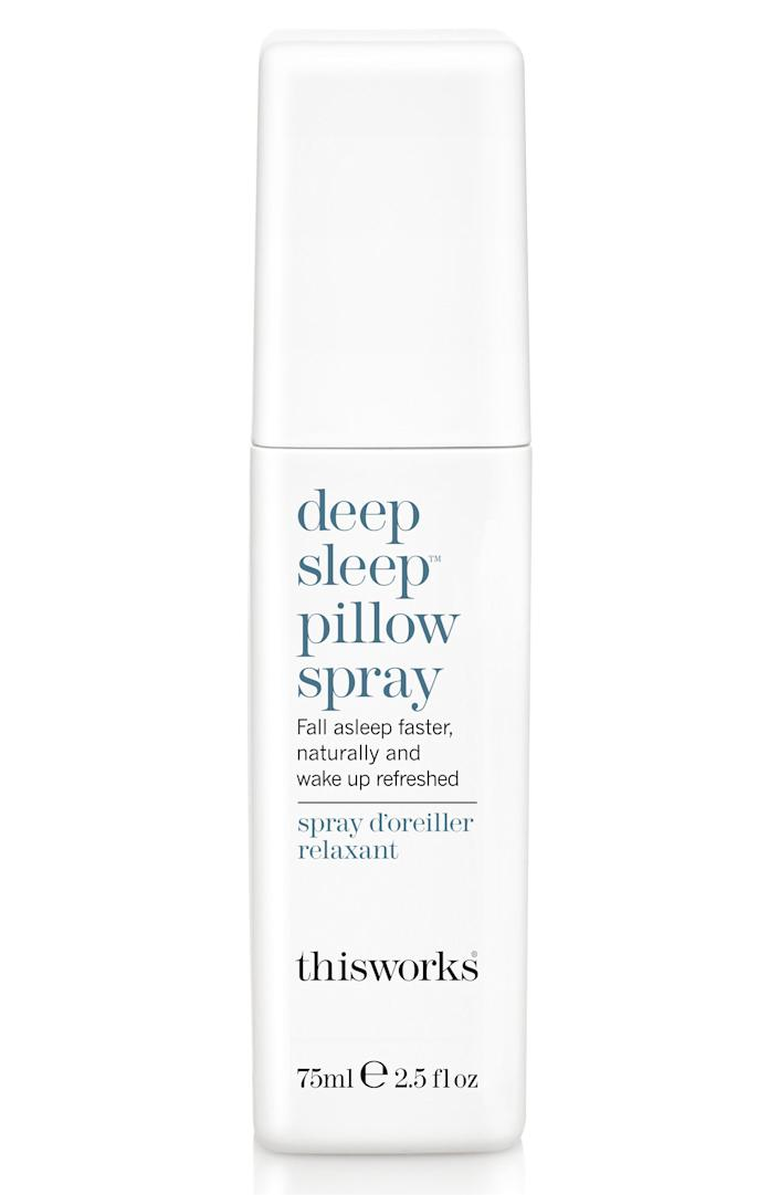 """Your friend can spritz this spray all over their pillowcase before going to bed. It has a blend of lavender, vetiver and chamomile so their mind might be a little calmer as they're hitting the hay. <a href=""""https://fave.co/36d382e"""" rel=""""nofollow noopener"""" target=""""_blank"""" data-ylk=""""slk:Get it for $29 at Nordstrom"""" class=""""link rapid-noclick-resp""""><strong>Get it for $29 at Nordstrom</strong></a>.&nbsp;"""