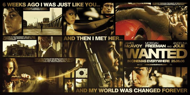A poster for 2008's Wanted, based on the Mark Millar graphic novel. (Universal Pictures)