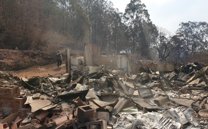 House destroyed in Hillville, NSW on 12 November 2019