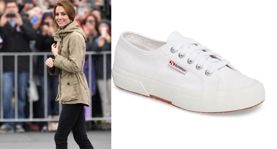 Kate Middleton's Superga Cotu sneakers are in stock at Nordstrom, but not for long.