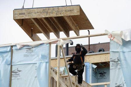 Homes undergo construction in Toronto