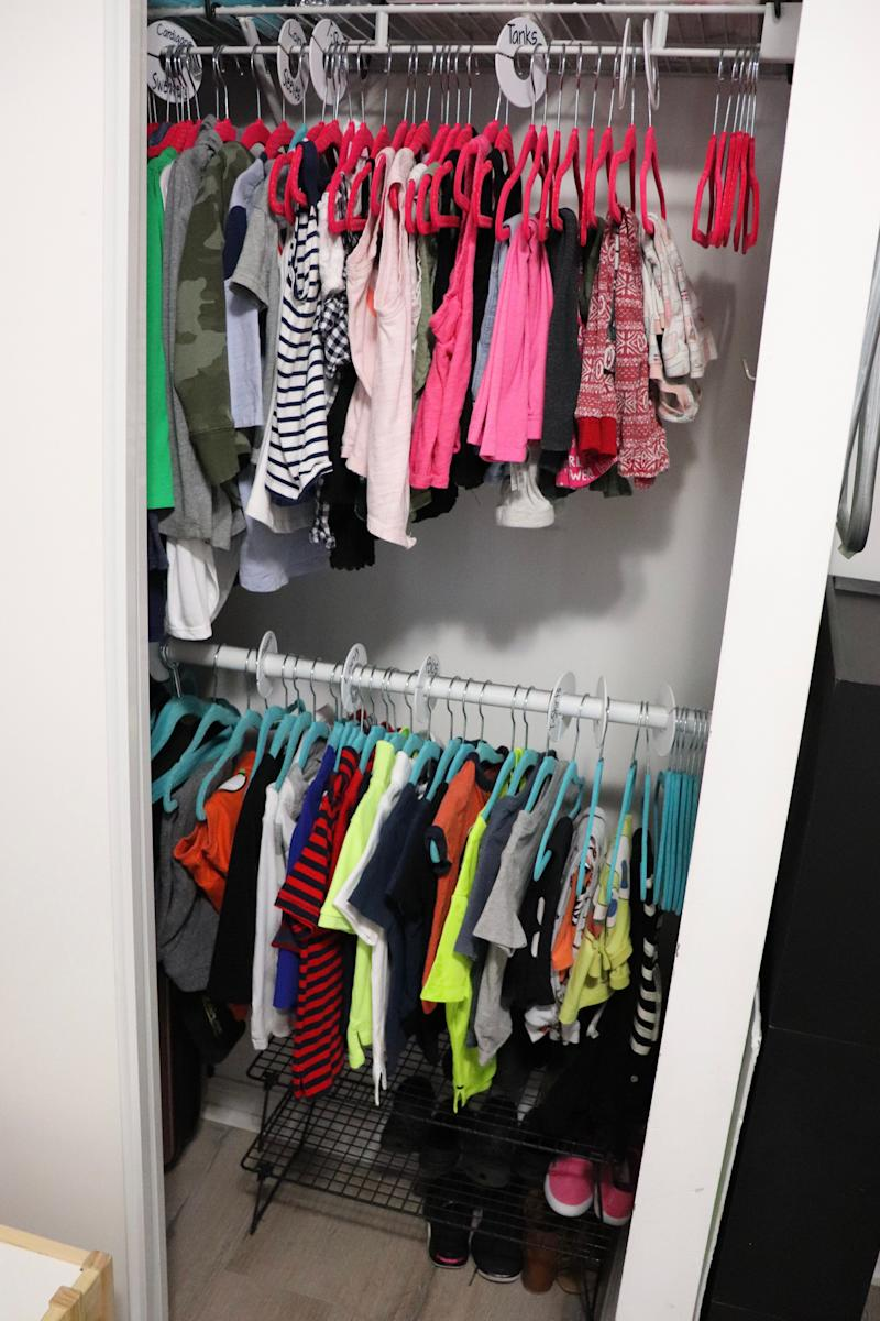 Clothing is organized to be easily mixed and matched. (Photo: Vaishali Sahni)