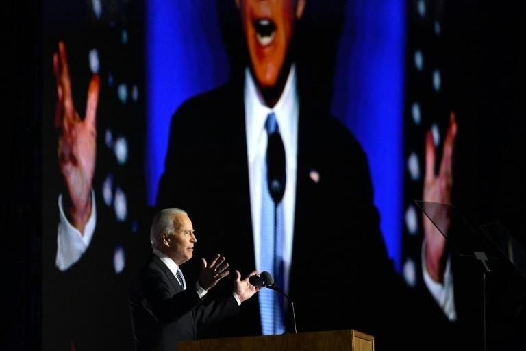 Democrat Joe Biden urged 'unity' for Americans in his victory speech