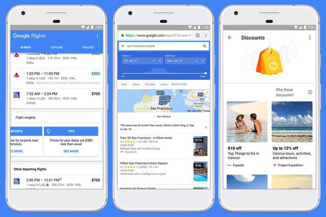 Google Flights, Google Trips
