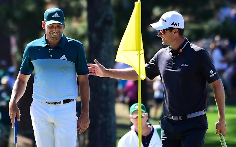 Sergio García (left) and Justin Rose were an example to all at Augusta at the weekend - 2017 Getty Images