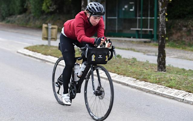 Fiona Kolbinger completed the 4,000km race from Burgas, Bulgaria to Brest, France in just over ten days - AFP