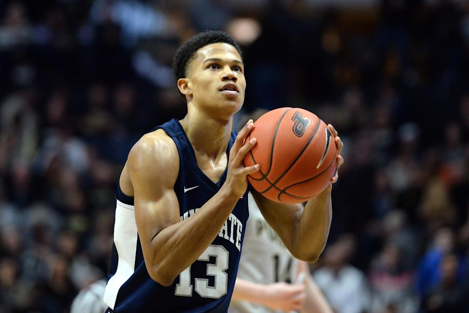 """Rasir Bolton transferred from Penn State after coach Pat Chambers used the word """"noose"""" in a conversation with him. (Photo by Michael Allio/Icon Sportswire via Getty Images)"""