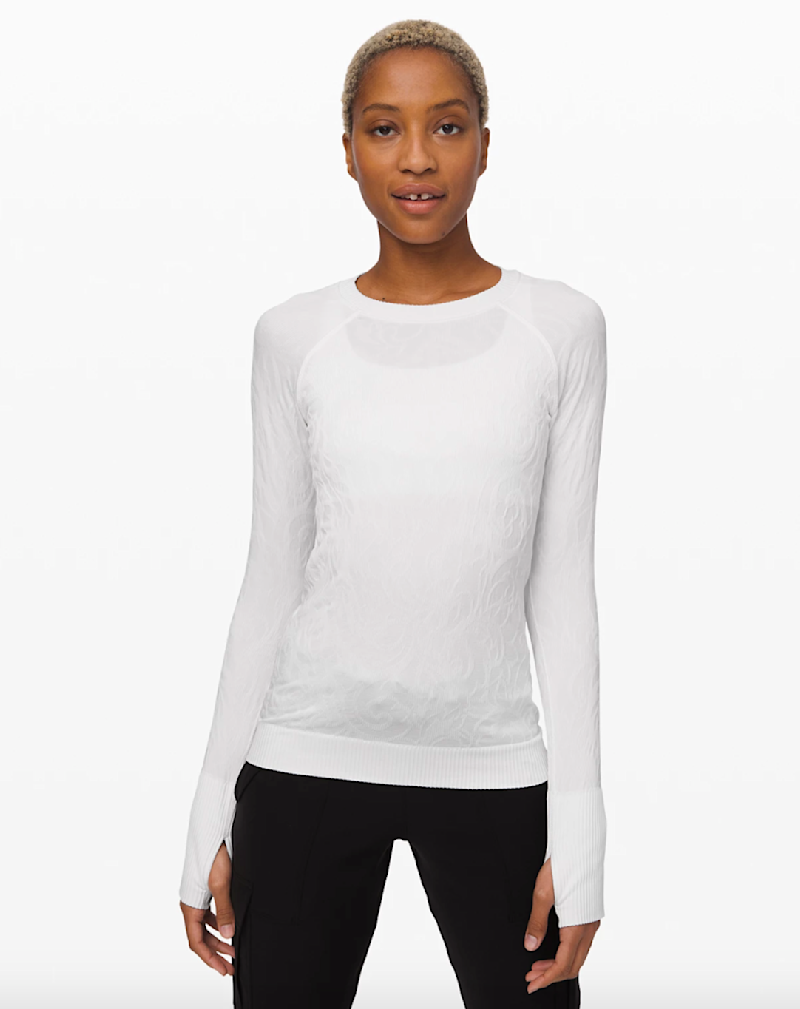 Rest Less Pullover in white