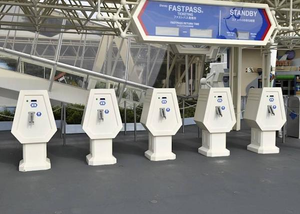 The Fastpass ticket machines