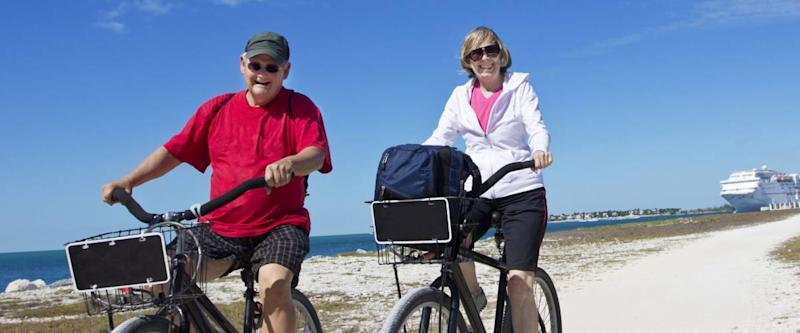 Senior Couple on a bike ride