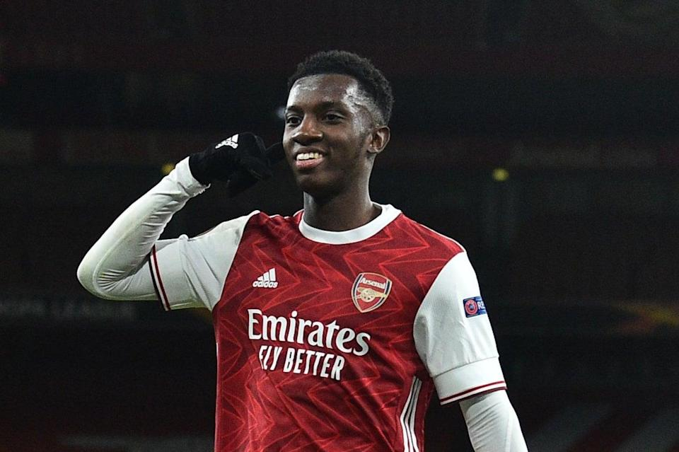 <p>Eddie Nketiah has struggled for first-team football at Arsenal</p> (AFP via Getty Images)