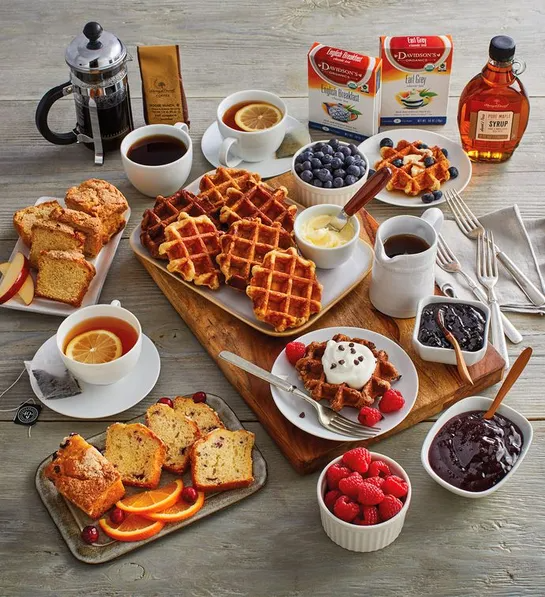 "<h2>Harry & David Waffle Brunch Gift Box</h2><br>If you're not able to take mom out to brunch IRL, you can send her everything she needs for an extravagant meal at home. From waffle mixes to loaf cakes to coffee, this gift box has got all categories covered.<br><br><strong>Harry & David</strong> Waffle Brunch Gift Box, $, available at <a href=""https://go.skimresources.com/?id=30283X879131&url=https%3A%2F%2Fwww.harryanddavid.com%2Fh%2Fgourmet-foods%2Fbrunch%2F32803"" rel=""nofollow noopener"" target=""_blank"" data-ylk=""slk:Harry & David"" class=""link rapid-noclick-resp"">Harry & David</a>"