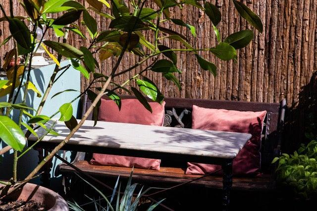 """Corbin said: """"We've rainproofed the whole area and made it into a bit of a secret garden - you can even book now""""Kudu"""