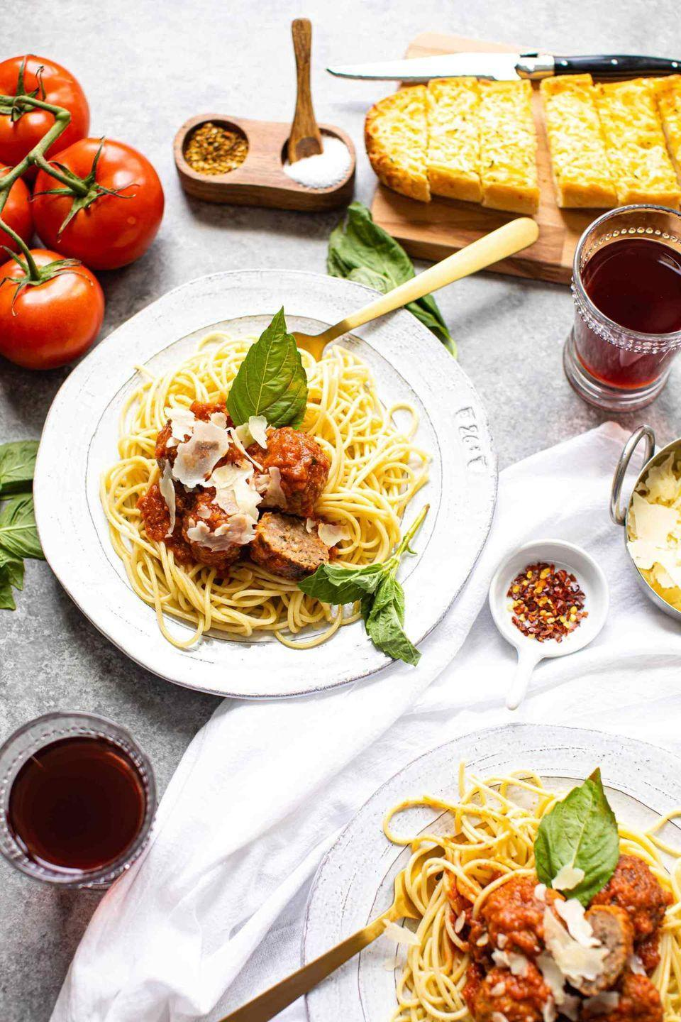 "<p>We all need an easy meatball recipe for last-minute marinara cravings. This one delivers.</p><p><em><a href=""https://www.butterbeready.com/the-best-easy-meatballs-recipe/"" rel=""nofollow noopener"" target=""_blank"" data-ylk=""slk:Get the recipe from Butter Be Ready »"" class=""link rapid-noclick-resp"">Get the recipe from Butter Be Ready »</a></em></p>"