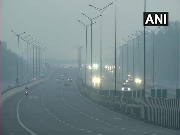 A visual from the Patparganj area in New Delhi on Friday morning. Photo/ANI