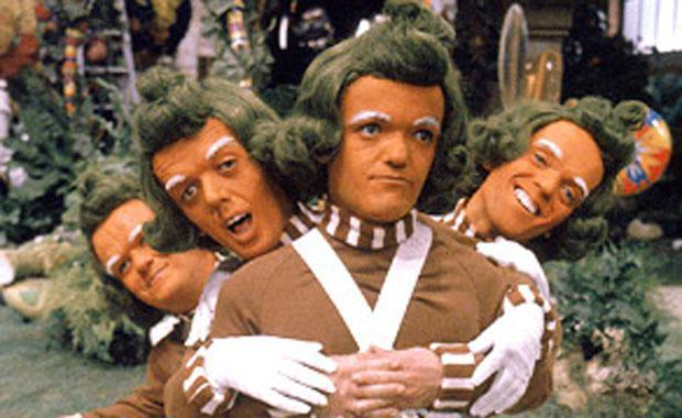 The Oompa Loompa's from Willy Wonka and the Chocolate Factory compared to Sam Wood after bad haircut