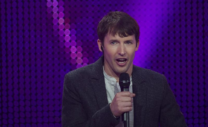 "British musician James Blunt, pictured at the 2014 Echo Music Awards in Berlin, has described the song that made his name ""annoying"""